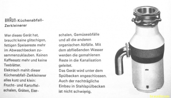 Privates Braun Forum u2022 Thema anzeigen Küchenabfallzerkleinerer